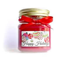 Apple Harvest Soy Scented Candle Natural Soy by WallFlowerCandleCo