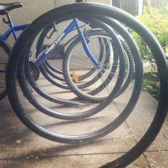 #circles #design #NAIT bike rack. #yeg #Edmonton #bikes Diy Bike Rack, Circle Design, Garden Hose, Circles, Instagram Posts, Outdoor, Outdoors, Outdoor Games, The Great Outdoors