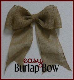 Burlap bow making tutorial