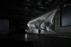 Zimoun - windcatching fabric/ facade