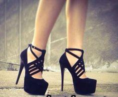 Simple black heels but cute