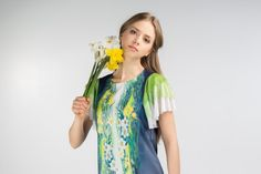 Daffodil  butterfly sleeve dress by ZIBtextile on Etsy, $85.00