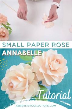 Today I am sharing with you a brand new paper rose tutorial! This new Annabelle rose is a real beauty and I am approaching the building method a little bit different then my other small flowers. In fact, this small rose design follows more of a giant paper rose structure. #papercrafts #cricut #svg