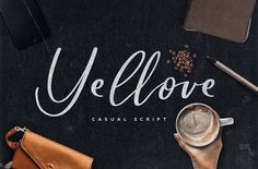 Yellove Duo - Fun Casual Handwriting by Ian Irwanwismoyo on @creativemarket