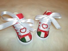 Baby Infant Toddler Converse swarovski crystals bling shoes allstar rhinestone pageant princess photo prop we love our Italian shoes on Etsy, $69.99