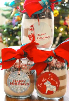 paper and cake: Holiday Gift Idea: DIY Cocoa Jars
