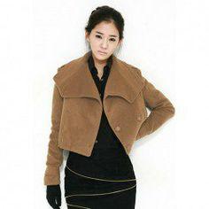 $14.46 Large Turndown Collar Graceful Short Coat For Women