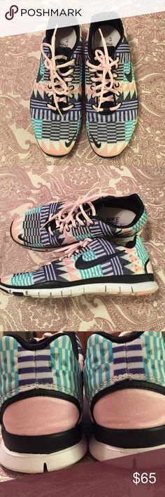 Nike Free TR Fit 3 Nike free TR Fit 3 Pastel pattern. Lightly worn, excellent condition. Box included. Nike Shoes Athletic Shoes