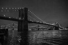 Brooklyn Bridge at night images | Brooklyn Bridge at Night. Photography by Sarah Brucker