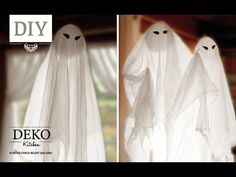 DIY: Coole Deko Halloween Gespenster selber machen | Deko Kitchen - YouTube