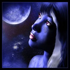 Blue Moon by Nameda by Lilyas on DeviantArt