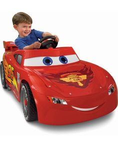 "Sure, the new ""Planes"" movie comes out soon, but we have a soft spot for ""Cars."" You too? Treat your kid to this fun Lightning McQueen riding toy. Click above to buy one."