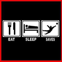 Eat Sleep Goalkeeper Saves Football Team Soccer T Shirt | eBay