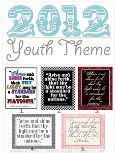 lots of printables using the theme