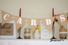 Cards Hessian Bunting Suitcase Size Burlap Banner Rustic Shabby Chic Wedding £6.00