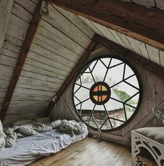 Room with a view in Poland ? Photo by Zimmer mit Aussicht in Polen ? Melde mich so schnell wie möglich an! Cabins In The Woods, Dream Rooms, My Dream Home, Interior And Exterior, Interior Design, Interior Paint, Future House, Beautiful Homes, Architecture Design