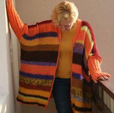 Length Knitted Womens slouchy cardigan by handmadestreet101