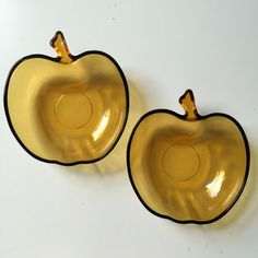1af1ddb79d9 Vintage Apple Bowls. Duralex Vereco Amber Glass. Apple Ice Bucket Style.  House of