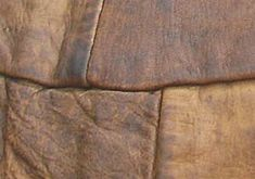 Outside of a Roman goatskin tent showing the way the skins were joined.