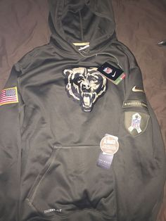 d749241cab12b2 Nwt Nike 2015 #Chicago #Bears Salute To Service Hoodie Sweatshirt Large  Pullover from $160.0