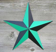 painted tin star | 10 Inch Nautical Barn Star – Painted Nautical Star on Galvanized ...