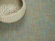 Woven Floor Mat in Garden Mini Basketweave