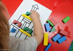 Dřěvěné kostky / Wooden shaped cubes #batole #toddler #drevenekostky #woodencubes #woodenshapedcubes #prikladani #matching #toddlerteaching Ways Of Learning, Learning Activities, Cubes, Montessori, Logos, Logo, A Logo