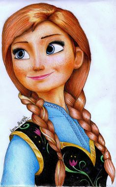 63 ideas for disney art drawings doodles anna frozen Disney Drawings Sketches, Disney Character Drawings, Girl Drawing Sketches, Disney Princess Drawings, Disney Princess Art, Art Drawings For Kids, Princess Anna, Anna Frozen Drawing, Frozen Painting