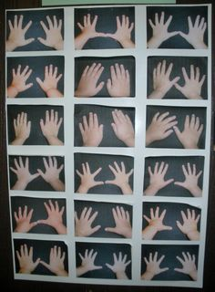 "Teacher says, ""I took pics of the hands of each child in the class and during Back to School Night encouraged the parents to identify their child's hands. It's harder than you might think, as many of the parents found out."""