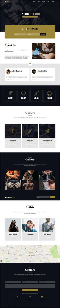 Inkness is modern and clean design #Adobe #Muse template for #tattoo studios website download now➩ https://themeforest.net/item/inkness-tattoo-studio-muse-template/19464646?ref=Datasata
