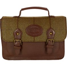 Dee Two Rose Brown Tweed Small Satchel Country Cognac The Country Cognac range of handbags and accessories combines the luxury of leather with the