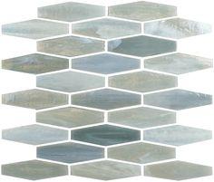Saltbush Hexagon Grey Glossy Glass Tile