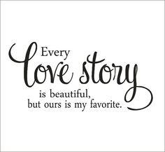 Chaque histoire d'amour est belle vinyle par CustomVinylbyBridge