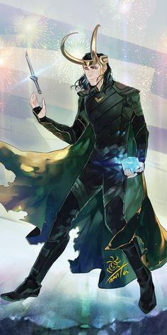 [ Thorki ] Best Fanarts And Doujinshis - Loki-sama! Loki Art, Thor X Loki, Marvel Avengers, Marvel Comics, Bucky, Heros Comics, Loki Wallpaper, Loki Drawing, Asgard