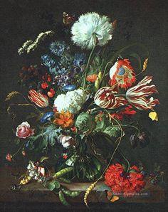 Vase Of Blumen Niederlande Barock Jan Davidsz de Heem Ölgemälden