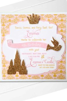 the 33 best princess party invitations images on pinterest in 2018