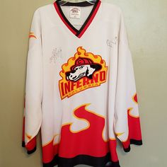 COLUMBIA INFERNO TEAM AUTOGRAPHED HOCKEY JERSEY JERSEY SIZE 2XL ADULT