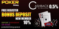 POKERBINTANG, BINTANGNYA POKER ONLINE SEJAK 2013 HINGGA SAAT INI. FREE REGISTER LHO !!!  DEPOSIT | WITHDRAW IDR 20.000 BONUS DEPOSIT 10 % NEW MEMBER BONUS ROLLINGAN 0,5 % BONUS REFERRAL 10 %  #dewapoker #agenpokeronline2018 #idnpoker #pokeronlineindonesia #pokerclub99 #dewapoker #pokeronline2018 #pokerbintang #agenjudi #judipoker #idnplay #idnpoker Poker, Broadway Shows