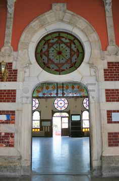 Sirkeci Train Station indoor in Istanbul Turkey Stock Photo