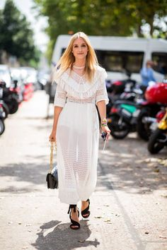SHEISREBEL.COM - Street Style #sheisrebel #worldwide #onlineshopping #stylish #streetstyle #whitedress #summerlook