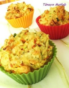 Muffin with Vegetables - nefis tatlar muffin vegan muffin recipe muffin Vegetable Muffins, Kitchen Time, Recipe Sites, Turkish Recipes, Muffin Recipes, Vegan, No Bake Cake, Good Food, Easy