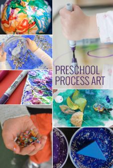 Many ideas, including no cook silky play doh made with cornstarch and conditioner