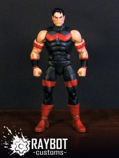Wonder-Man (Marvel Legends) Custom Action Figure by raybot Base figure : Ultraman (DCC)