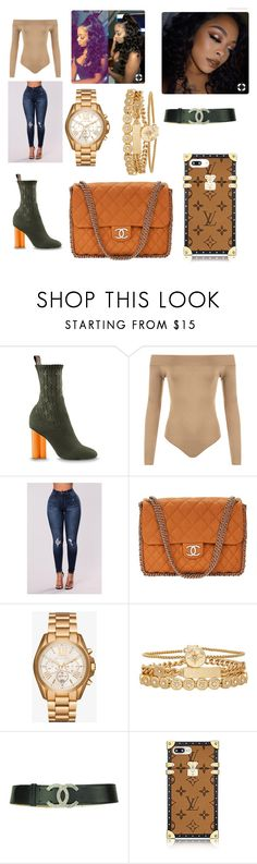 """""""Untitled #440"""" by askariwilson on Polyvore featuring WearAll, Chanel, Michael Kors and Treasure & Bond"""