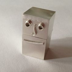 """A sterling silver box that I call """"Sam"""". This one was a lot of fun to make! His friend Fred in down below."""