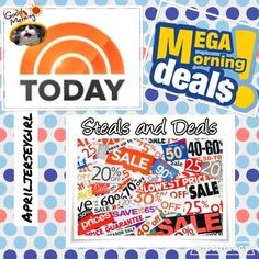 """MORNING!! Check out TODAYS DEALS & STEALS HELLO PFFS!!  EVERY morning I go threw and pick a few items that of course are beautiful....and I slash the price. It's called DEALS & STEALS!!!. I keep the price all day to give everyone a chance to see what the deal is today✨ HAPPY POSHING, AND GET IT WHILE ITS HOT!! ☀️ * price will go back to its original price at end of day. AND AS ALWAYS...IT SHIPS SAME DAY WITH A """"ty"""" GIFT!!! T H A N K Y O U !!  APRILJERSEYGIRL Bags"""
