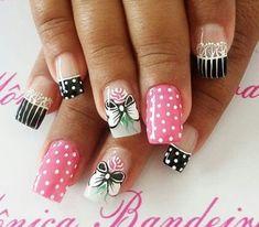 #Nails #Uñas #UñasDecoradas #DecoracióndeUñas Pedicures, Spring Nails, Pretty Nails, My Nails, Finger, Nail Designs, Lily, Nail Art, How To Make