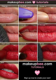 Step-By-Step Tutorial for The Perfect Red Lip Tutorial