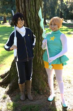 https://flic.kr/p/ALFj5Z | Yato (夜ト), from the manga Noragami (ノラガミ), with Pearl, from the American cartoon Steven Universe