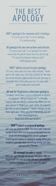 People need to learn how to apologize the right way